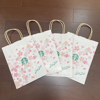 スターバックスコーヒー(Starbucks Coffee)の新品☆ スタバ 紙袋 4枚 2020年 サクラ 限定(その他)
