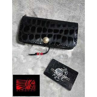 REDMOON - RED MOON/クロコダイル革 ロングウォレット センターコンチョ 長財布