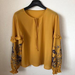GRACE CONTINENTAL - グレースコンチネンタル 袖刺繍カフタントップ