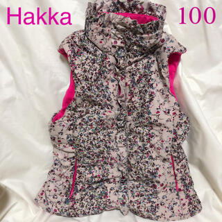 hakka kids - ハッカキッズ Hakka アウター 女の子 100 花柄 ベスト kp アナスイ