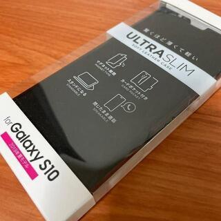 ELECOM - Galaxy S10用ソフトレザーケース(手帳型)PM-GS10PLFUBK