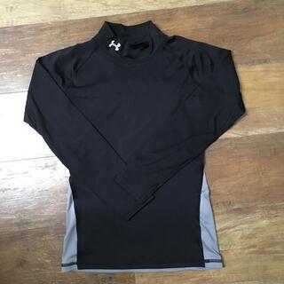 アンダーアーマー(UNDER ARMOUR)のアンダーアーマー  アンダーシャツ 黒 コールドギア YLG 150(ウェア)