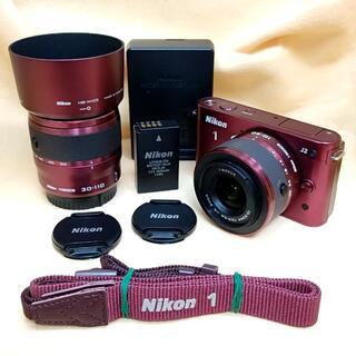 ニコン(Nikon)の【美品】ミラーレス Nikon 1 J2 ダブルズームキット (ミラーレス一眼)