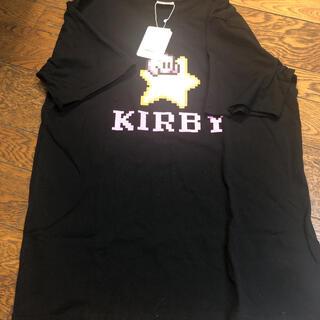 バンダイ(BANDAI)の新品未使用 星のカービィ Tシャツ 黒  Lサイズ(Tシャツ/カットソー(半袖/袖なし))