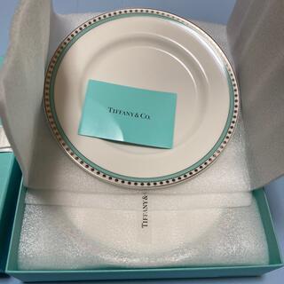 Tiffany & Co. - ティファニー 皿 4枚 プラチナブルーバンド デザートプレート
