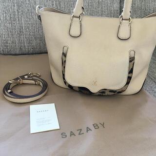 SAZABY - サザビー / 2way ハラコバッグ ベージュ