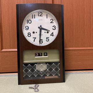 SEIKO - SEIKO 柱時計 アンティーク ゼンマイ ボンボン時計