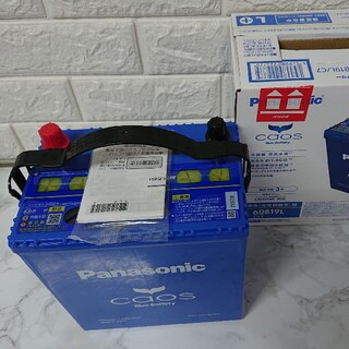 パナソニック(Panasonic)のパナソニック カオスバッテリーN-60B19L/C7(メンテナンス用品)