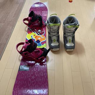 サロモン(SALOMON)のスノーボード143センチ スノーボードブーツ24センチ(ボード)