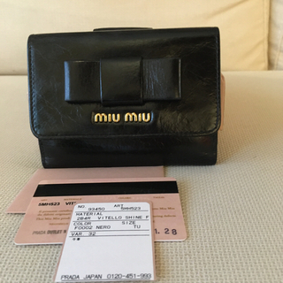 miumiu - 【美品】ミュウミュウ コンパクト財布 折財布