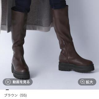 ジーナシス(JEANASIS)のJEANASIS ビガーロングブーツ ブラウン Mサイズ(ブーツ)