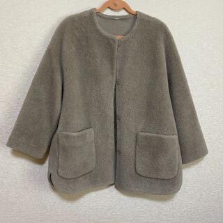 Mila Owen - Mila Owen ノーカラーシャツカーブボアジャケットコート