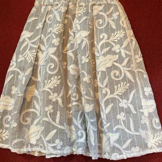 GRACE CONTINENTAL - グレースコンチネンタル チュール刺繍スカート36