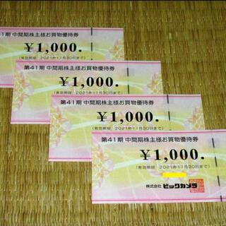 ビックカメラ 株主優待 割引券 4000円分(ショッピング)