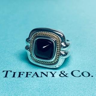 ティファニー(Tiffany & Co.)のVINTAGE TIFFANY ティファニー オニキス ゴールド コンビ リング(リング(指輪))