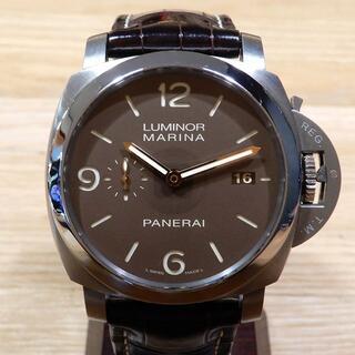 パネライ(PANERAI)の超美品 パネライ ルミノールマリーナ 1950 3デイズ ブラウン メンズ(腕時計(アナログ))