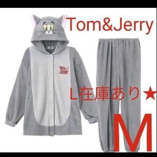 トムとジェリー着ぐるみセットアップ トム Mふわもこなりきりルームウェアパジャマ