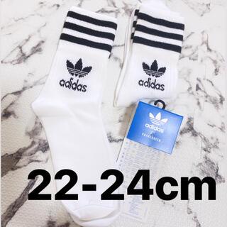 adidas - アディダス adidas ソックス 靴下 ホワイト ロゴ レディース ストリート