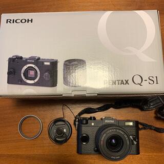 RICOH - 【美品】ミラーレス一眼PENTAX Q-S1 ズームレンズキット BLACK