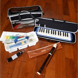 スズキ - 小学生 絵の具セット 鍵盤ハーモニカ ソプラノリコーダー 3点セット まとめ売り