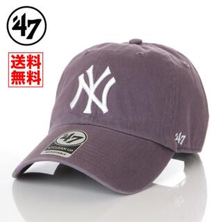 ニューエラー(NEW ERA)の【新品】47 キャップ NY ヤンキース 帽子 ラベンダー レディース メンズ(キャップ)
