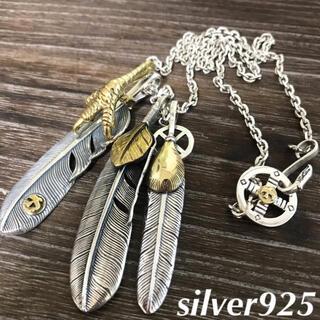 goro's - silver925 トリプル フェザーネックレス / ゴローズ 好きに