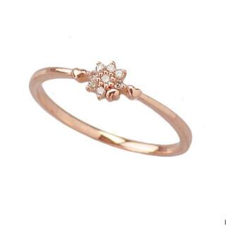 ブルーム(BLOOM)のbloom k10 ピンクゴールド ダイヤモンドリング(リング(指輪))