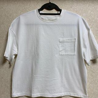 UNIQLO - ユニクロ クロップドクルーネックTシャツ ホワイト
