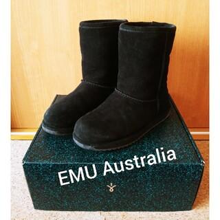 アグ(UGG)のEMU Australia(エミュー) ブラックムートンブーツ23cm(ブーツ)