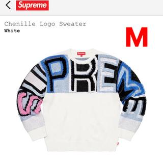 """Supreme - Supreme Chenille Logo Sweater """"White"""""""