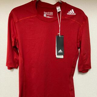 adidas - アディダス テックフィット Tシャツ Lサイズ レッド 新品未使用