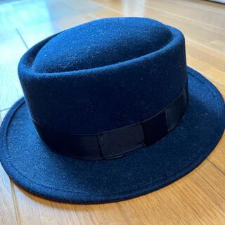 サマンサモスモス(SM2)のハット 帽子 ネイビー(ハット)
