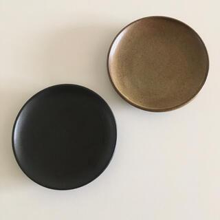ムジルシリョウヒン(MUJI (無印良品))の無印良品 萬古焼 皿 ブラウン 黒釉 約直径16cm 二枚セット(食器)