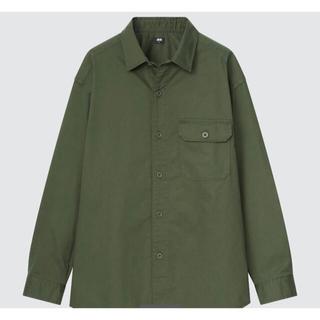 UNIQLO - ストレッチツイルオーバーサイズシャツ