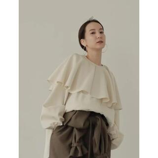 TODAYFUL - louren big cape blouse ivory