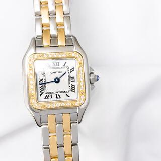 Cartier - 【仕上済】カルティエ パンテール SM 2ロウ ダイヤ レディース 腕時計
