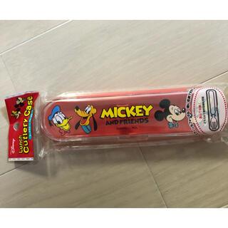 ミッキー&フレンズ ランチスプーン&フォークケース
