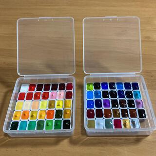 ホルベイン 透明水彩 絵の具 69色 小分けセット ケース付き