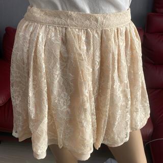 ダズリン(dazzlin)のdazzlin★スカート★レース★ホワイト★S(ミニスカート)