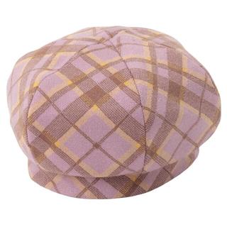 エイミーイストワール(eimy istoire)の* eimy istoire パンセチェックニットベレー帽 * LAVENDER(ハンチング/ベレー帽)