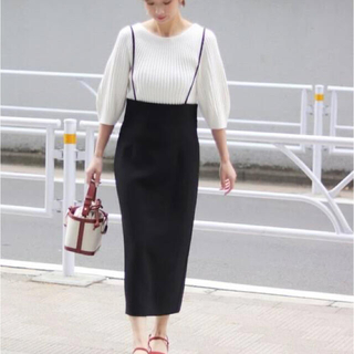 Noble - nobleサロペットスカート38 ブラック 美品