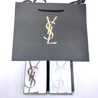 イヴサンローランボーテ(Yves Saint Laurent Beaute)の【匿名配送】YSLショップ袋とサンプル香水(ショップ袋)