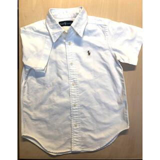 Ralph Lauren - ラルフローレン 白 シャツ 半袖 110cm ボタンダウン
