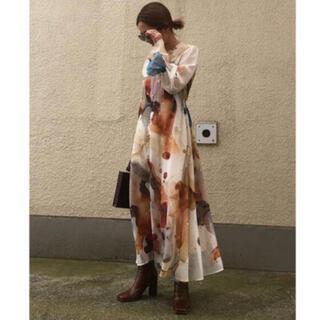 アメリヴィンテージ(Ameri VINTAGE)の✨新品未使用✨AMERI VINTAGE ink art dress ワンピース(ロングドレス)