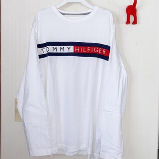 トミーヒルフィガー(TOMMY HILFIGER)のトミーヒルフィガー 美品オーバーサイズロゴロンT(Tシャツ/カットソー(七分/長袖))