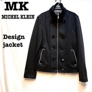 MICHEL KLEIN - 美品【 MK ミッシェルクラン 】  デザインジャケット ウールブルゾン