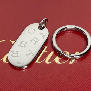 Cartier - Cartier カルティエ ロゴプレート キーリング