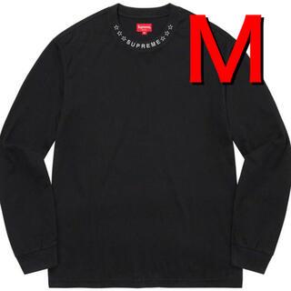 Supreme - Supreme Stars Collar L/S Top M ブラック
