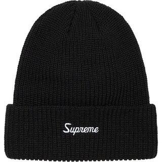 シュプリーム(Supreme)のSupreme Loose Gauge Beanie Black (ニット帽/ビーニー)