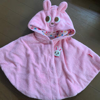 ミキハウス(mikihouse)のポンチョ 上着 防寒 ベビー ミキハウス ピンク あかちゃん(その他)